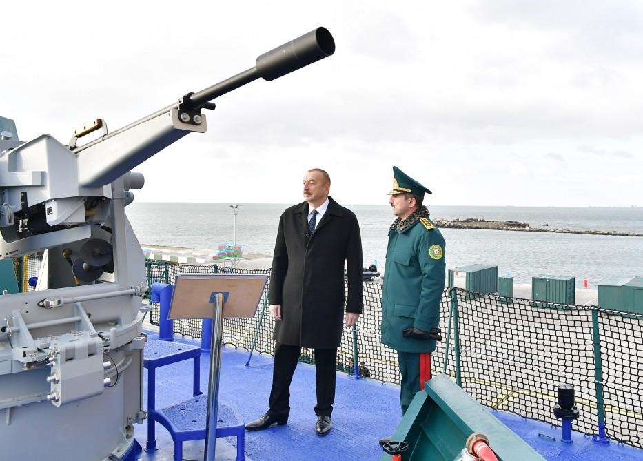 President Ilham Aliyev views new