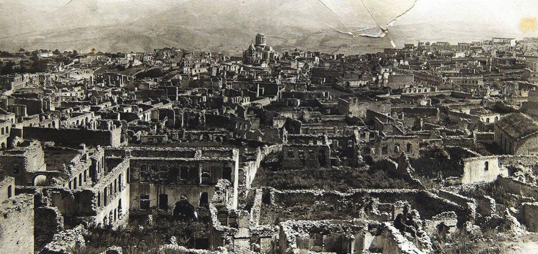 The results of Armenian vandalism in Shusha, 1920