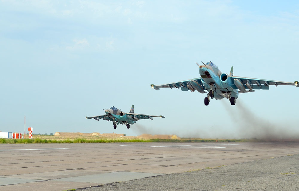 Combat training of the Air Force aircraft is being continued