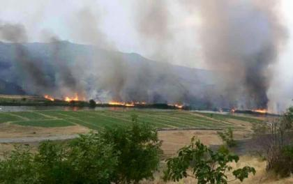 Armenians set fire to occupied Azerbaijani territories