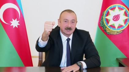 Azerbaijani president: Zangilan city and 6 villages of district, 18 villages of Fuzuli, Jabrayil and Khojavand districts liberated