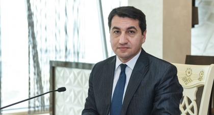 Hajiyev: Davos meeting of Azerbaijani president, Armenian PM may be regarded as continuation of meetings in Dushanbe, St. Petersburg