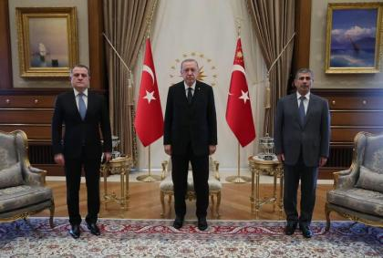 Turkish President receives Azerbaijani ministers of foreign affairs and defense