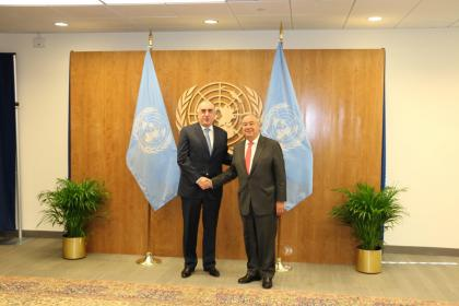 Guterres: UN is ready to contribute development of peace process in Nagorno-Karabakh conflict