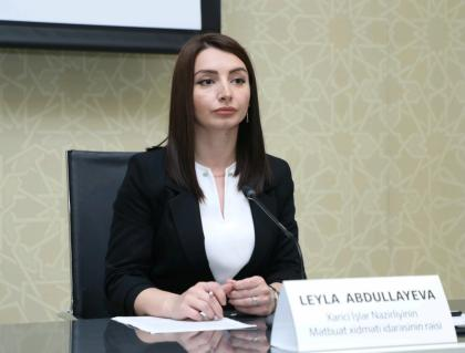 "Leyla Abdullayeva: Concept of ""Garabagh people"" which Armenian MFA referred does not exist"