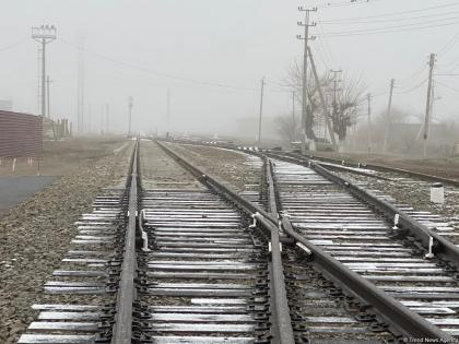 Horadiz-Aghbend railway track being restored