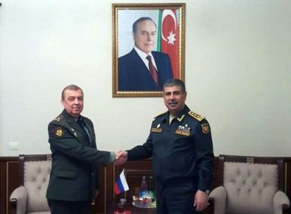 Azerbaijan Defense Minister meets with Russian military attache