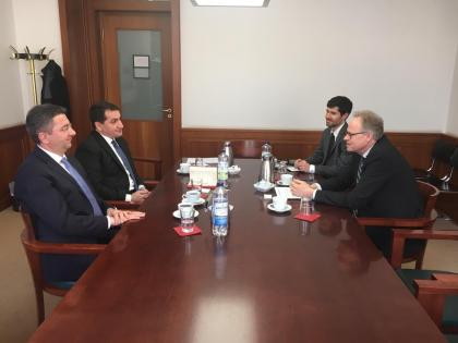 Hikmat Hajiyev discusses Nagorno-Karabakh conflict in Berlin