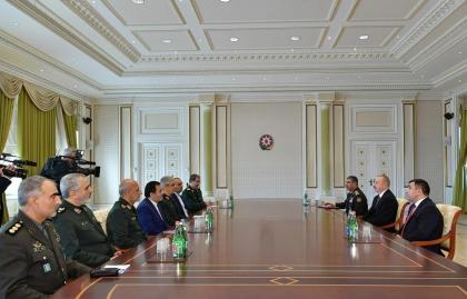 Ilham Aliyev receives delegation led by Chief of General Staff of Iran's Armed Forces