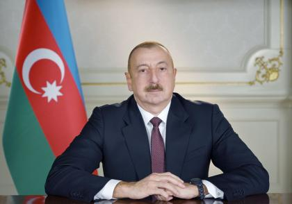 Azerbaijan's armed forces raise Azerbaijan's flag over ancient Khudaferin Bridge - President Aliyev