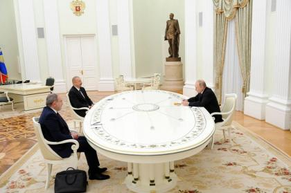 Trilateral meeting held between President Putin, President Aliyev, PM Pashinyan