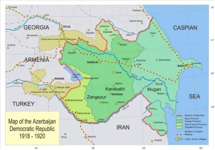 Karabakh in period of Azerbaijan Democratic Republic (1918-1920)