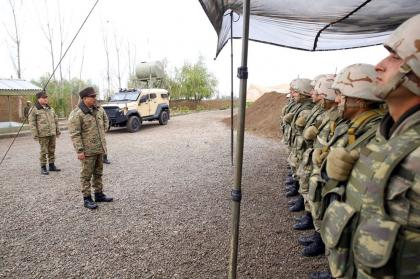 Defense Minister checked the combat readiness of the foremost units