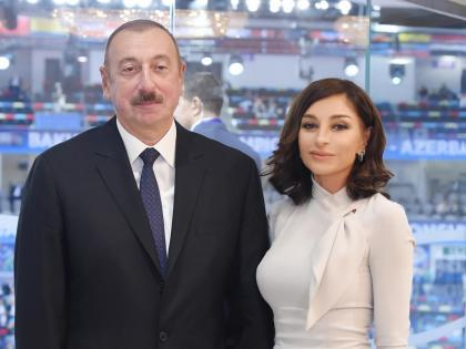 Azerbaijani president, first lady laid foundation for 'Smart Village' project in Agaly village of Zangilan district