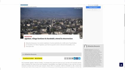 Le site d'information Atlantico : Aghdam, village fantôme du Karabakh, attend la résurrection